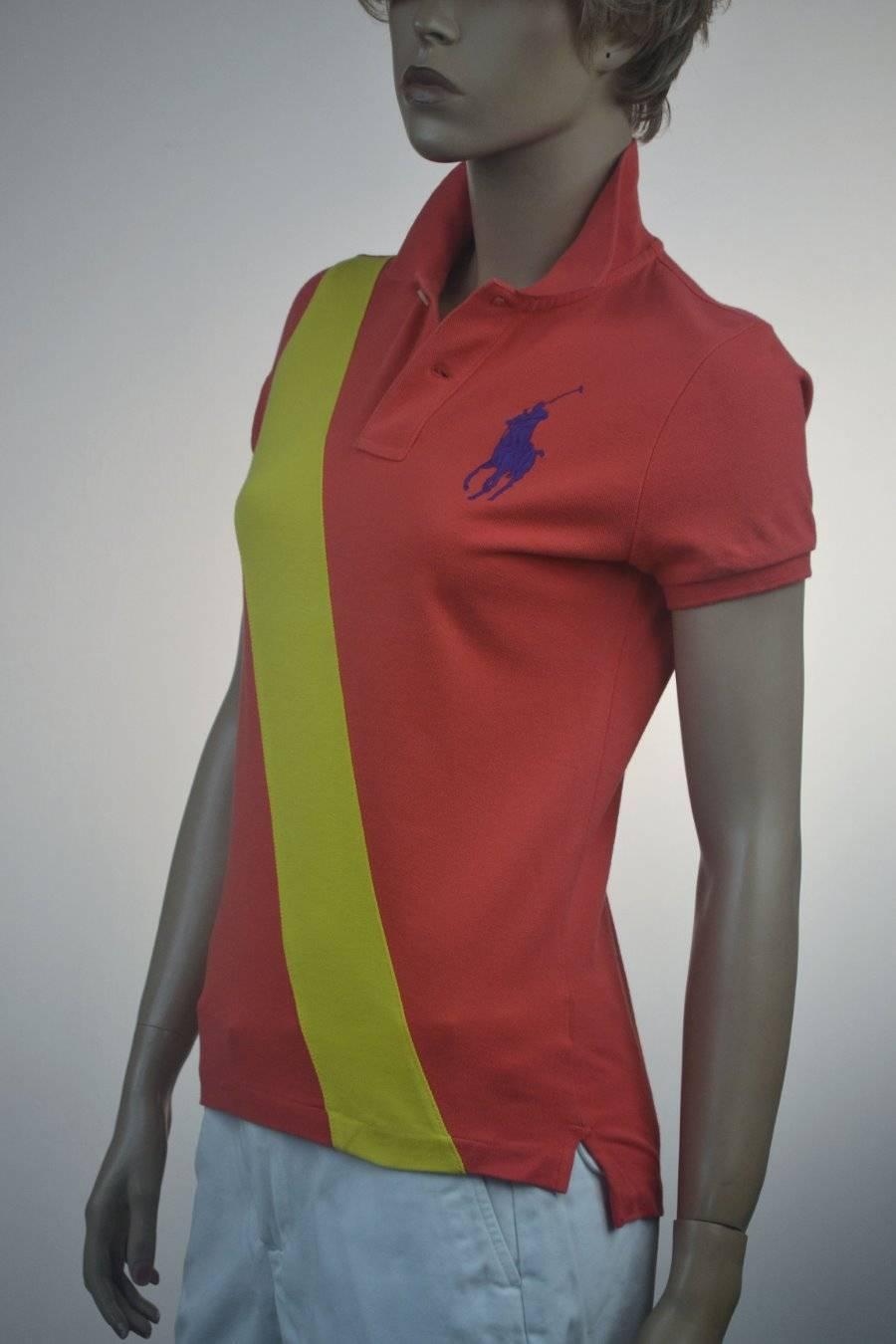 Ralph Lauren Orange Big Pony Skinny Polo Shirt lila Big Pony-XLarge- NWT