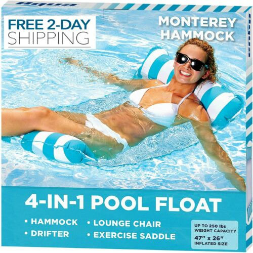 4-in-1 Monterey Hammock Inflatable Pool Float Hammock New