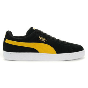 Details about PUMA Men's Suede Classic Black/Spectra Yellow/White Shoes  36534744 NEW!
