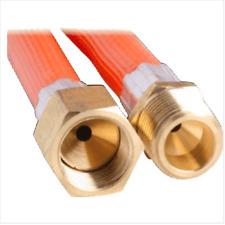LPG NATURAL GAS HOSE 6mm PVC 3/8'' SAE FF x 3/8'' BSP M 6HGB2400 2400mm