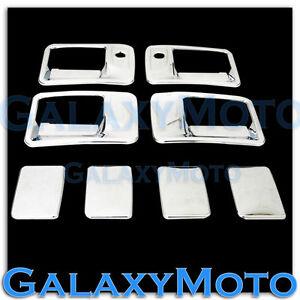 99-16-Ford-Super-Duty-F250-F350-F450-Chrome-4-Door-Handle-w-PSG-keyhole-Cover