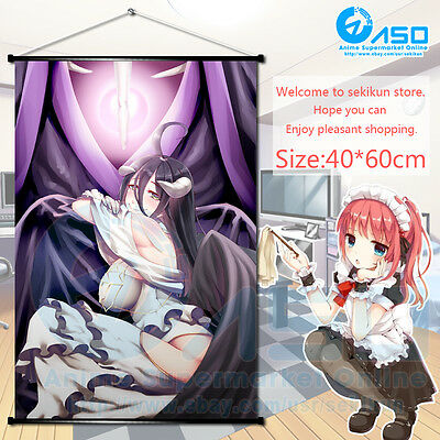 Anime Wall Scroll Poster Overlord Albedo Art Home Decor decorate collection gift