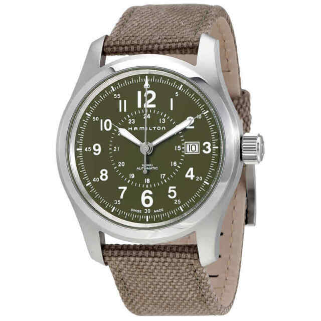 Hamilton Khaki Field Olive Green Dial Automatic Mens Watch H70605963