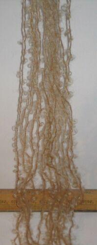 45m 15 x 3m Fawn Light Brown Pack 78/% Mohair Small Loop wool Doll Hair Weaving