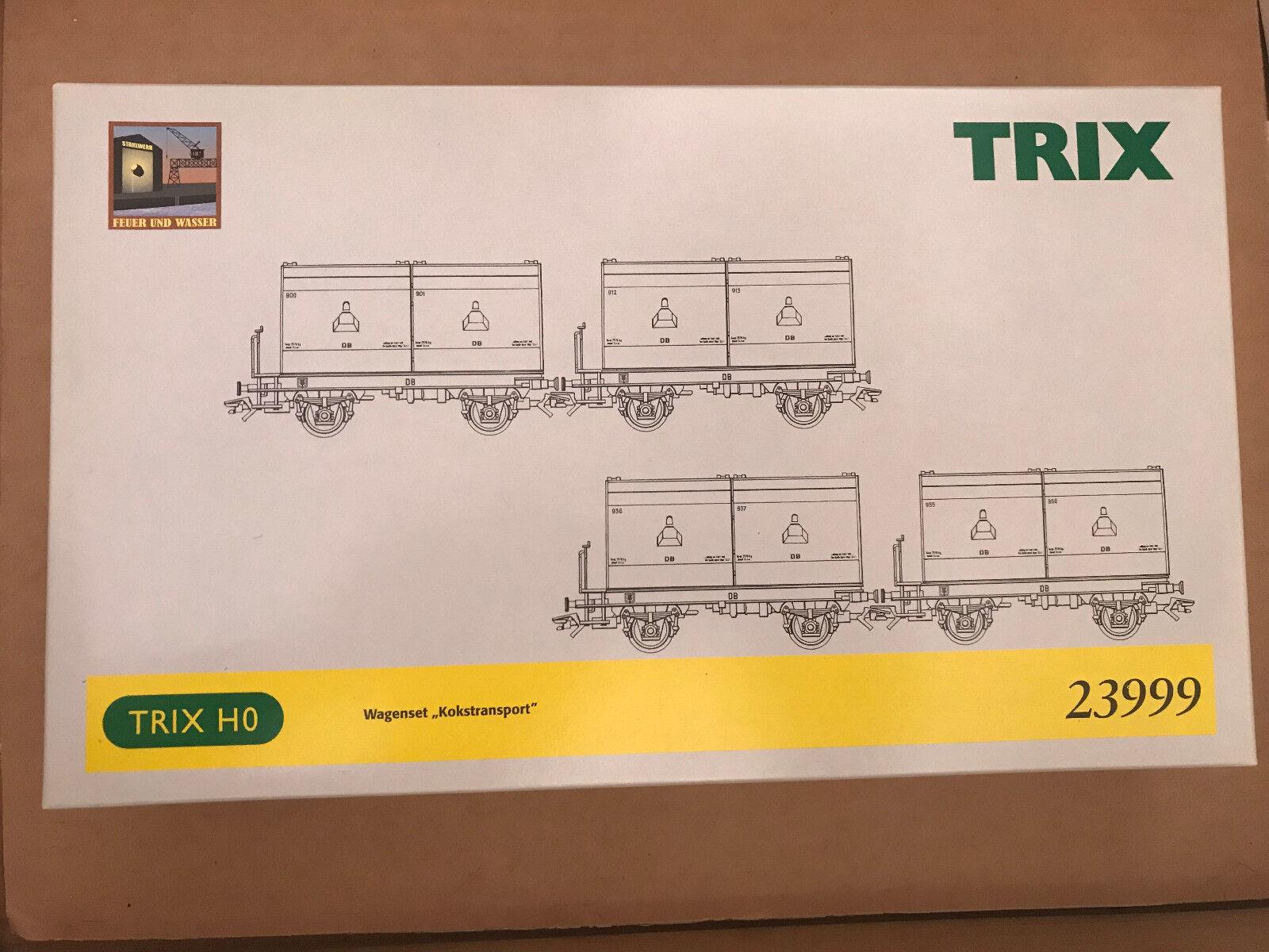 a la venta Trix 23999 H0 Set Set Set de Vagones  Kokstransport  Nuevo + Emb.orig  ¡no ser extrañado!
