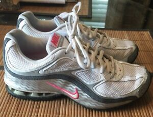 4294dafd6cc Nike Reax Run 5 Training Running 407987-116 Women Size 7 Silver Pink ...