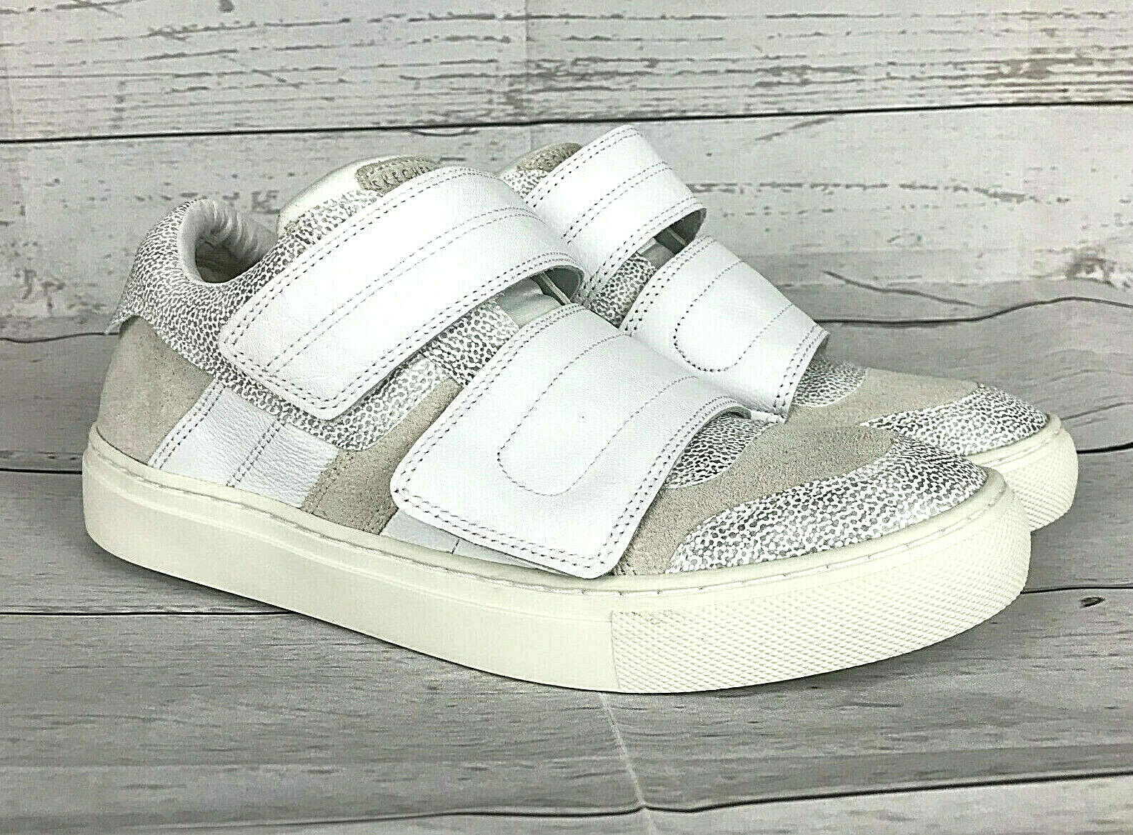 Skechers Street Smooth Over damen 7 ivory leather double strap rise fit Turnschuhe