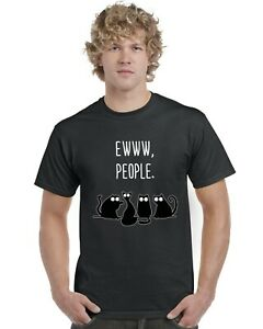 Ewww-People-Cat-Inspired-Funny-Adults-T-Shirt-Tee-Top-Sizes-S-XXL