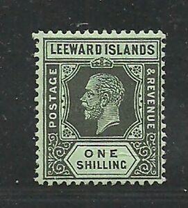 Album Treasures Leeward Islands Scott # 54 1sh George V Mint Hinged