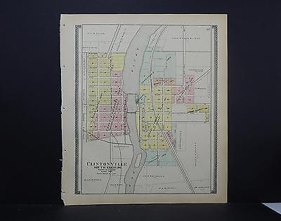 1869 GENEVA Kane County ILLINOIS panoramic map GENEALOGY poster IL28