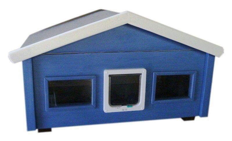 Outdoor Katzenhaus wetterfest wetterfest wetterfest Landhaus mit Katzenklappe und 2 Fenster - HS2-L-2F 569b2e