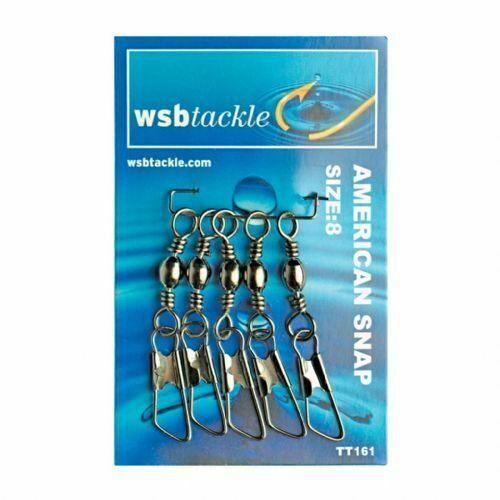 Fast Post WSB Tackle Fishing Swivels American Snap Swivel 5 pk Choice of Size