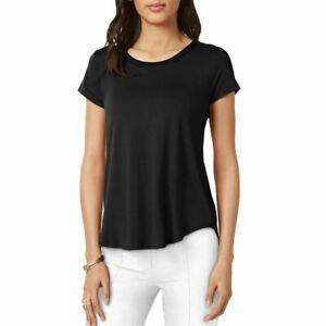 ALFANI-NEW-Women-039-s-Satin-trim-High-low-Casual-Shirt-Top-TEDO
