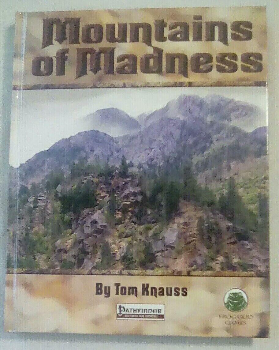 Frog God Pathfinder Perilous Vistas - Mountains of Madness HC MINT