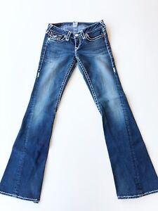 TRUE-RELIGION-Joey-Super-T-Women-s-Bootcut-Flare-Jeans-Light-Wash-Sz-28-32X34