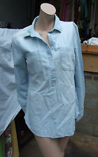 Merona Denim Looking Pale Blue Collared Button Down Shirt / Top / Blouse Size M