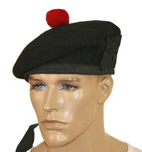 100% De Qualité Balmoral Hat Kilmarnock Bonnet Vert Laine Noire Traditionnel Highland Robe.-afficher Le Titre D'origine