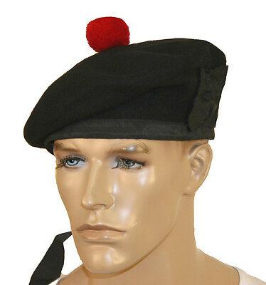 100% Puro Lana Balmoral Cappello Pipe Fascia Kilmarnock Verde Nero Rosso Bianco Squisito Artigianato;
