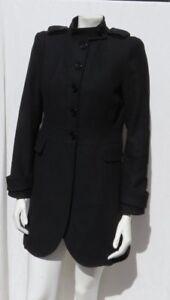Détails Sur Laine Euc Femme S Ajusté Us Eur Taille Zara Basique Noir Pour Manteau Feutré M ED29IH