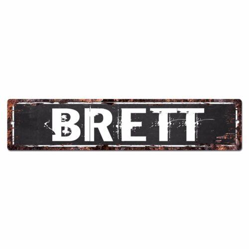 SFND0204 BRETT MAN CAVE Street Chic Sign Home man cave Decor Gift