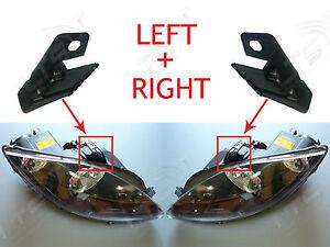 Soporte-De-Faros-delanteros-izquierda-y-derecha-ficha-Kit-De-Reparacion-Seat-Leon-2009-en-adelante