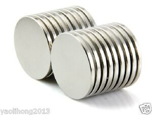 20pc N50 Super Strong Disc Cylinder Round Magnets 25 x 3 mm Rare Earth Neodymium
