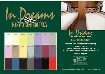 """24/"""" motorhome polycotton fitted 2/' Caravan wide upto 6/'6/"""" length 21 colours"""