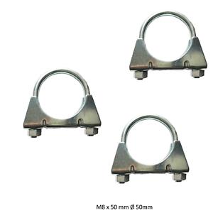 3 Stück M8 x 50 mm Auspuffschelle Bügelschelle Rohrschelle Auspuff Rohr S25250a