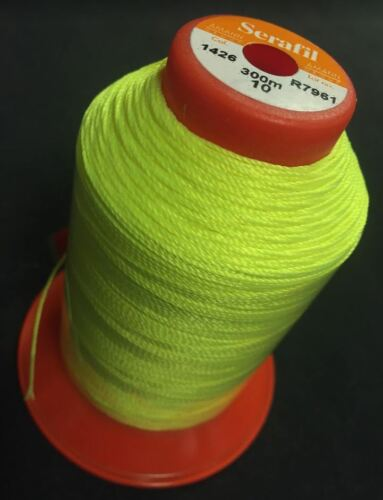 AMANN Serafil 10 starker Faden CP1RA Farbe neon gelb 1426 mit 300 Meter Reißfest
