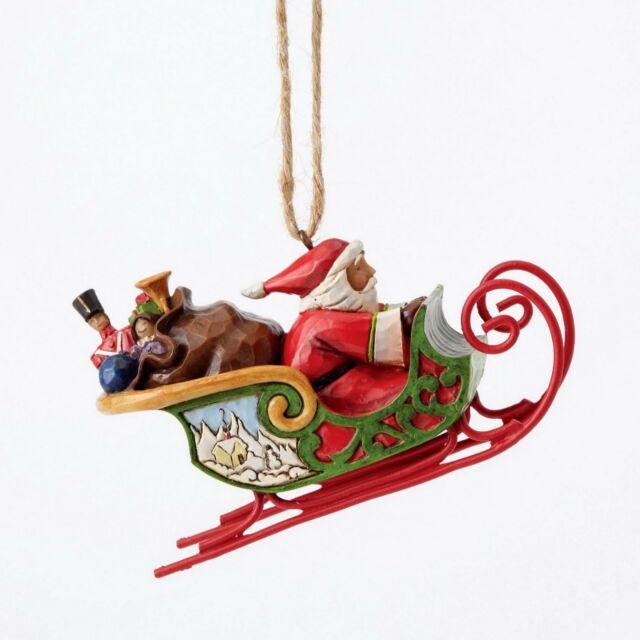 Enesco E8 duramen de color Creek Navidad Jim Shore Santa trineo 2.5 ...