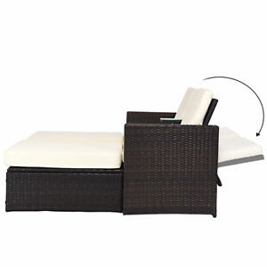 Chaise Lounge Outdoor.Details About 3pc Outdoor Rattan Wicker Patio Pool Chaise Lounge Chair Table Bed Furniture Set