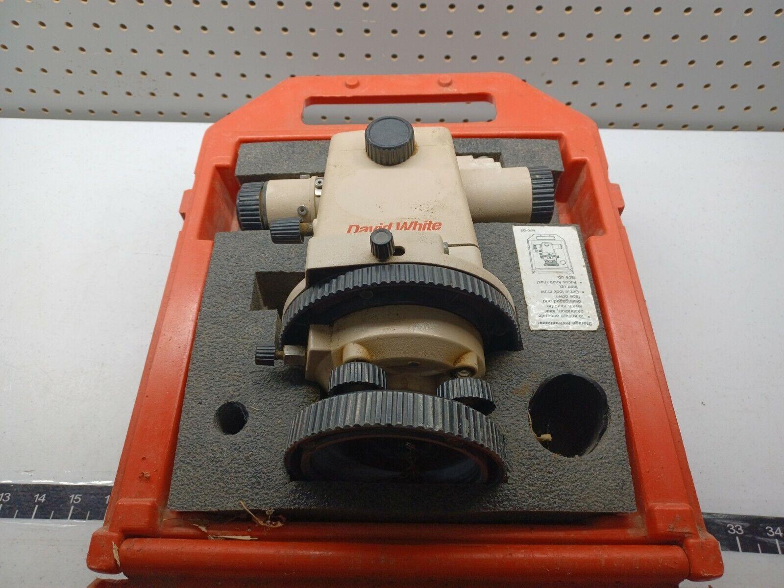 David White LT8-300 Universal Optical Level Transit in Carrying Case, b-x