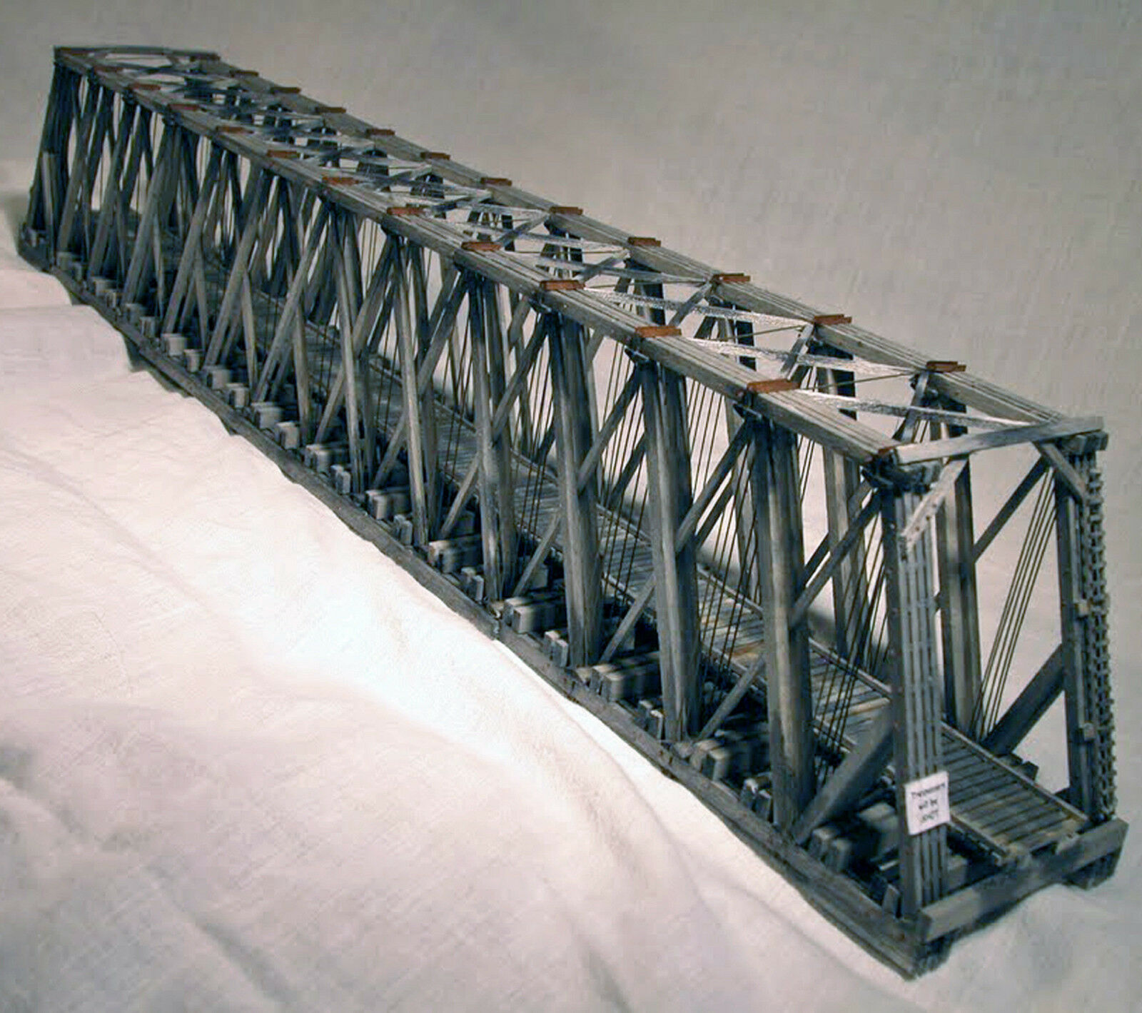 170' HO puente Howe Truss a través de estructura de ferrocarril modelo HL104H kit de artesano