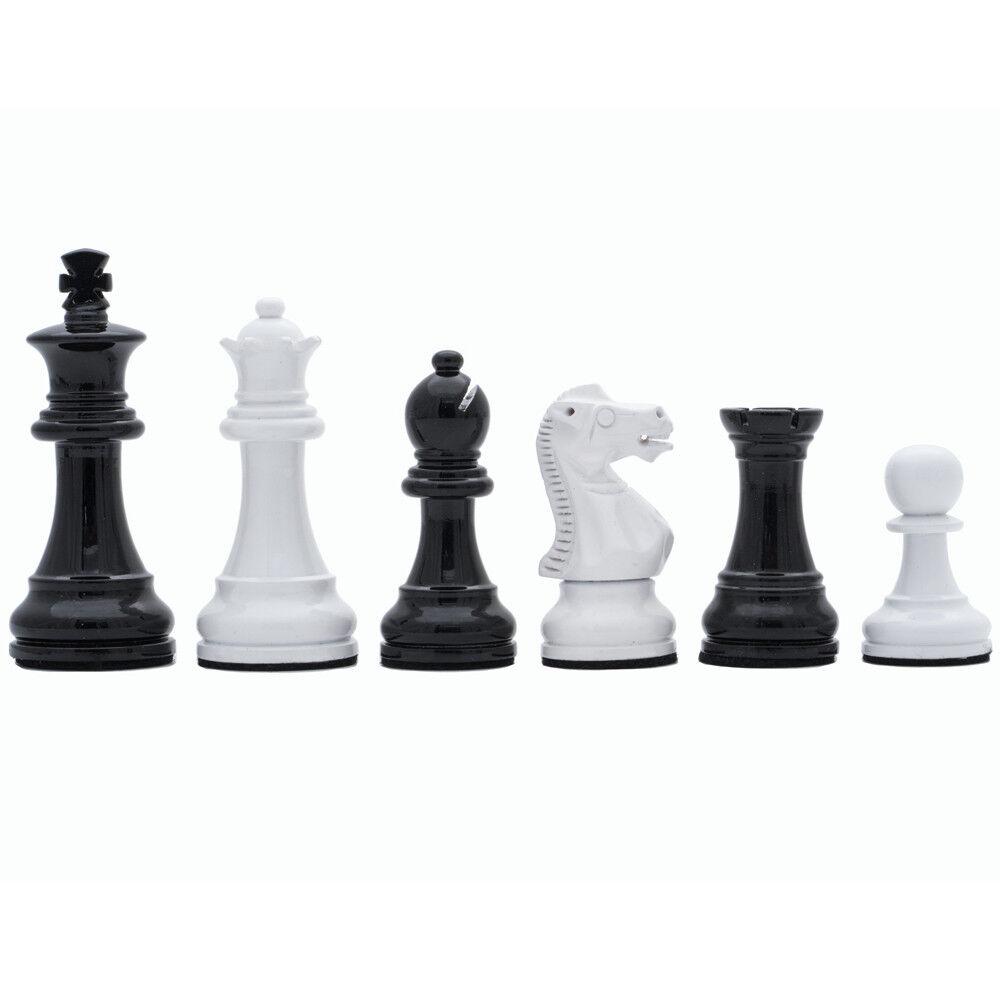 más orden Italiano negro y blancoo lacado 3  Staunton ajedrez hombres hombres hombres por ITALFAMA  hasta un 65% de descuento