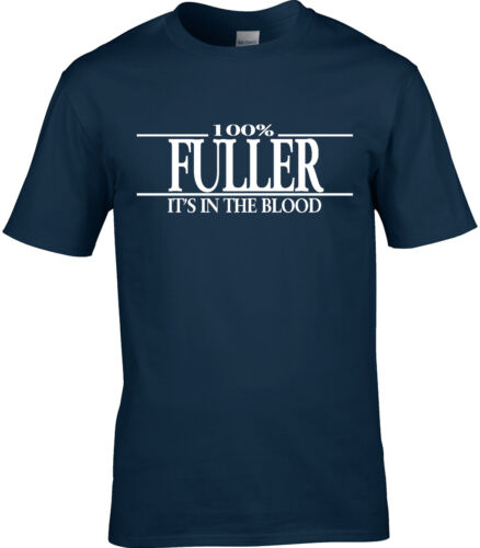 Fuller Surname Mens T-Shirt 100/% Party Reunion Gift Name Family Cool Fun