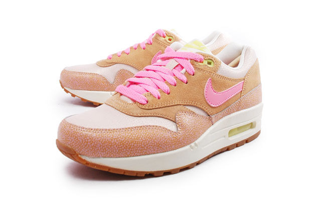 2013 Nike WMNS Air Max 1 PRM Dusted Clay Polarized Pink 454746 201 Wmn10.5men 9