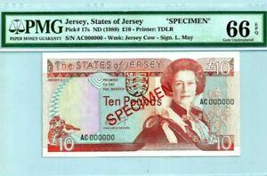 1989-JERSEY-10-034-SPECIMEN-034-PMG66-EPQ-GEM-UNC-P-17s