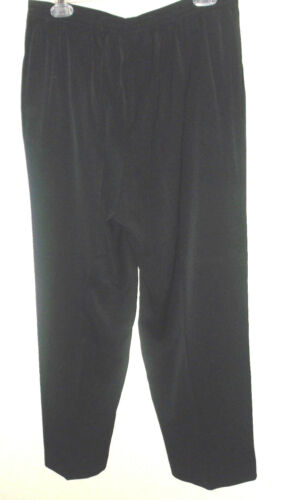 Women/'s Alfred Dunner Full Elastic Waist Pants Front Side Pockets 14P-18P 16-18W