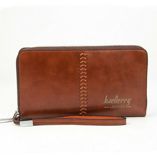 8acdd5c78ae5 Men's Leather Zip Clutch Business Long Wallet Purse Credit Card Holder  Checkbook