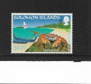 1995 Solomon Islands - Grapsid Crab - Single Stamp - Mint and Unhinged.