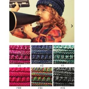 ecb1cfd5f1f Image is loading Kids-Multi-Color-CC-beanie