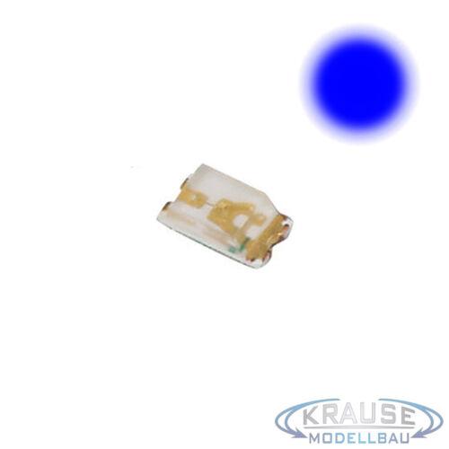 Km0085 5 Pièces SMD DEL 0603 Bleu Avec Cuivre lackdraht 0,15 mm Maquettes