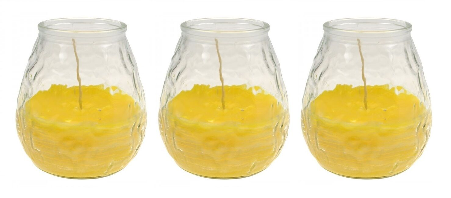 Anti-INSECTS-Candles in  Decorative Glass Citronella Candles against mosquitoes 3er Set  factory direct