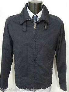 33618be58 Details about AQUASCUTUM Navy Blue HARRINGTON Bomber Jacket sz XL BNWT