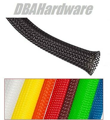 braided cable sleeving 3/4/6/8/10/15/20mm harness sheathing flexible expandable