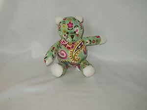VERA-BRADLEY-Baby-9-034-stuffed-bean-bag-BEAR
