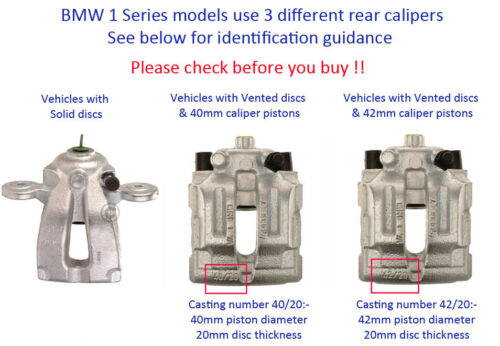 PK022Y-2 40mm piston BMW 123 125 130 Rear caliper repair kits /& pistons