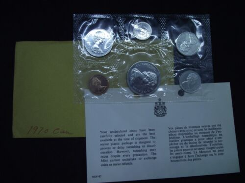 1970 Canadian Uncirculated 6 Coin Set