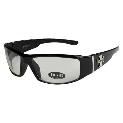 Choppers 314 Sonnenbrille Brille Klarglas Herren Damen Männer Frauen schwarz