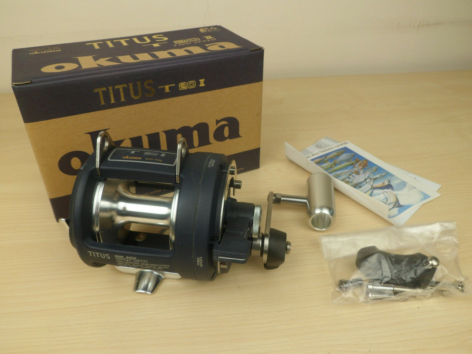 Okuma Titus T 20II Lever Drag Fishing Reel Trolling Big Game Reel T20II